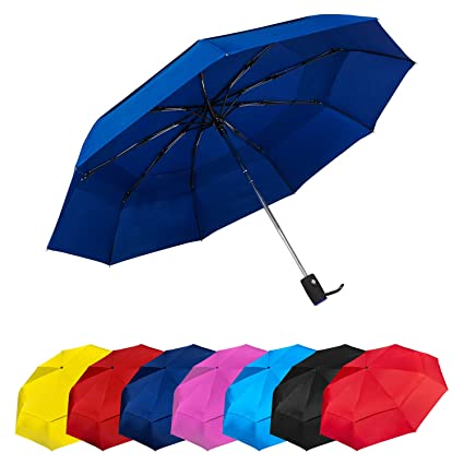 Paraguas Plegables Automático Antiviento. Paraguas Originales de Colores Mujer Hombre Ligero Resistente y Compacto.