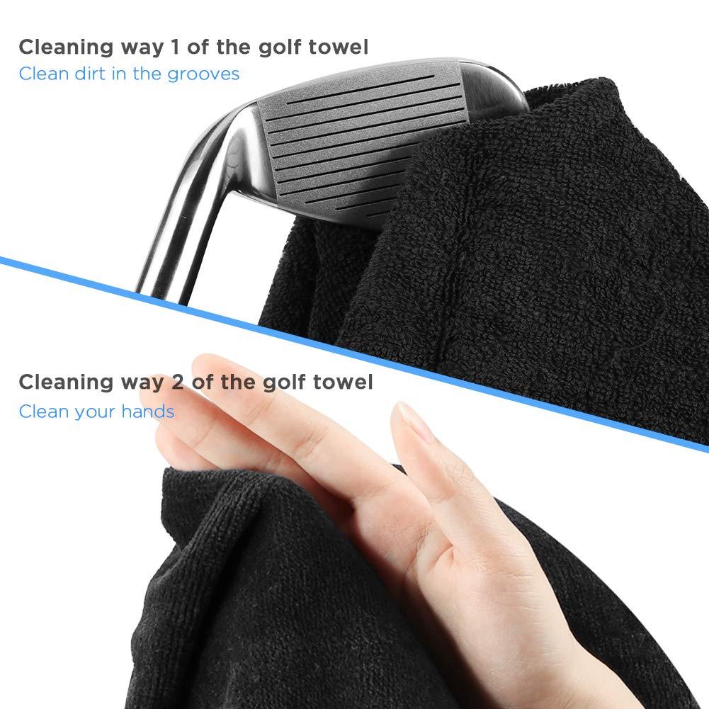 Amazon.com: Merssyria Toalla de golf de microfibra, toalla ...