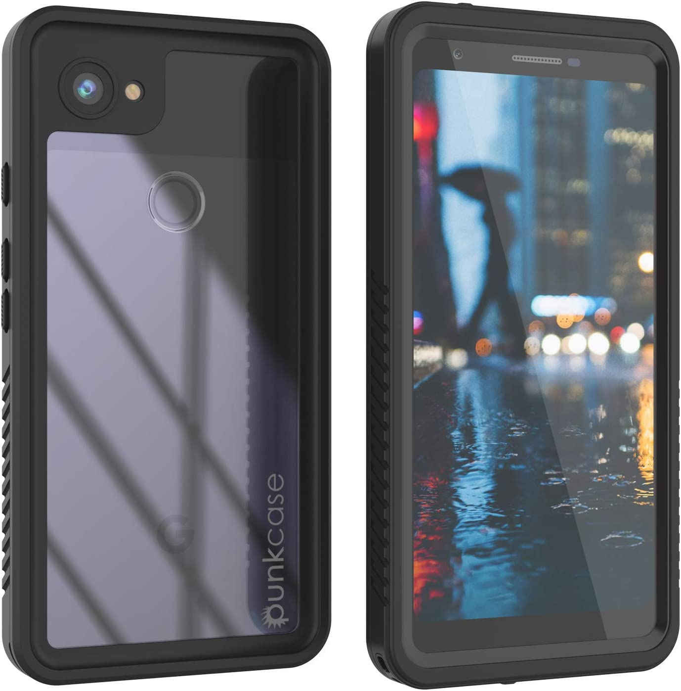 Punkcase Pixel 3a XL Waterproof Case [Extreme Series] [Slim Fit] [IP68 Certified] [Shockproof] [Dirtproof] [Snowproof] Armor Cover Compatible with Google Galaxy Pixel 3a XL [Black]