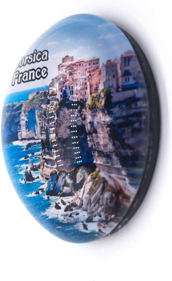 Weekino France Mont Saint-Michel Aimant de r/éfrig/érateur 3D Verre en Crystal Touristique Ville Voyage Souvenir Autocollant de r/éfrig/érateur Collection