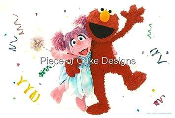 8 Round Sesame Street Elmo Abby Cadabby Birthday Edible Image