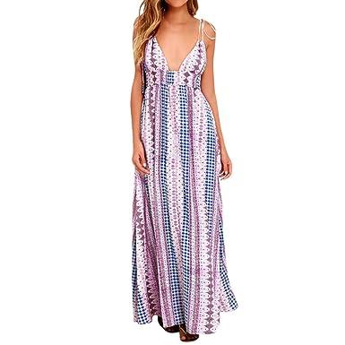ee3b0ecd5e22 Amazon.com  Gyoume Womens Maxi Dress Graduation Ceremony Dress Summer Boho  Cocktail Beach Dress Sundress Prom Party Dress  Clothing