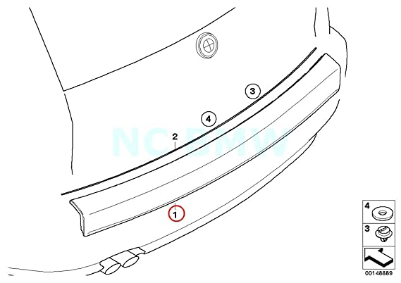 Amazon Com Bmw Genuine Primed Trunk Lid Finisher Automotive