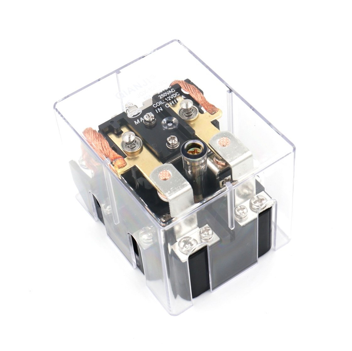 Baomain JQX-62F-2C Coil Voltage DC 12V 80A DPDT Electronmagnetic Relay