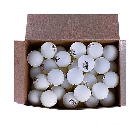 Qiaoxianpo01 Caja Grande de 120 Paquetes, Tenis de Mesa, Pelota de ...