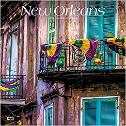 New Orleans Calendar 2019 New Orleans 2019 12 x 12 Inch Monthly Square Wall Calendar, USA