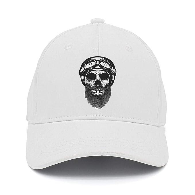 lsawdas Bearded Skull Motorcycle Snapback Hats Summer Hats at Amazon ... 339a18e6a8b