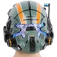 Dailygocn Titanfall 2 máscara de Jack Cooper Casco Verde Resina con Glow Ojo Helmet Green Resin Glow Eyes Mask Cosplay…