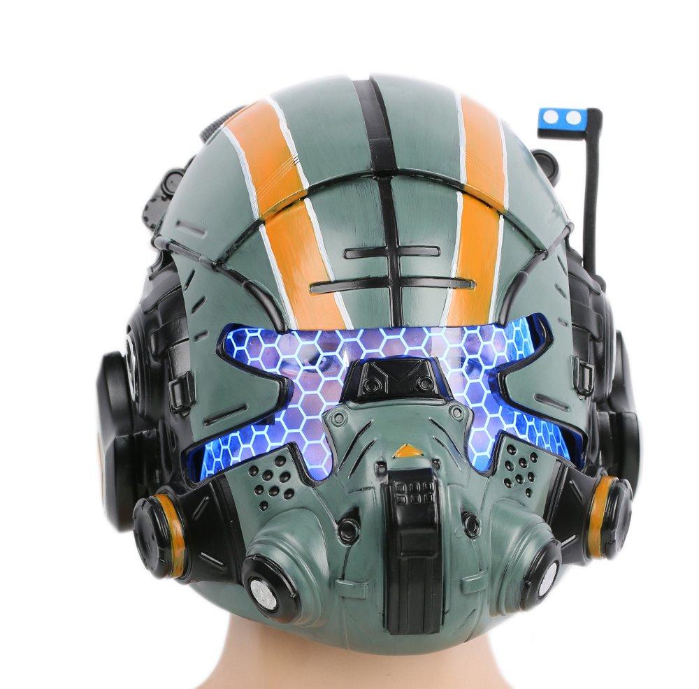 xcoser Cooper Helmet Deluxe Green Resin Glow Eyes Mask Halloween Cosplay