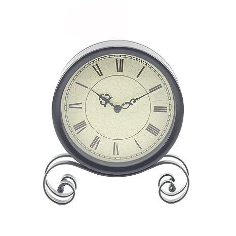 F-blue 18.5x15x4CM clásico Reloj de Escritorio de Bell por ...