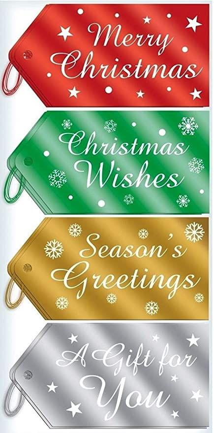 40 merry christmas wishes seasons greetings foil luggage gift tags 40 merry christmas wishes seasons greetings foil luggage gift tags label decoration hanging present craft m4hsunfo