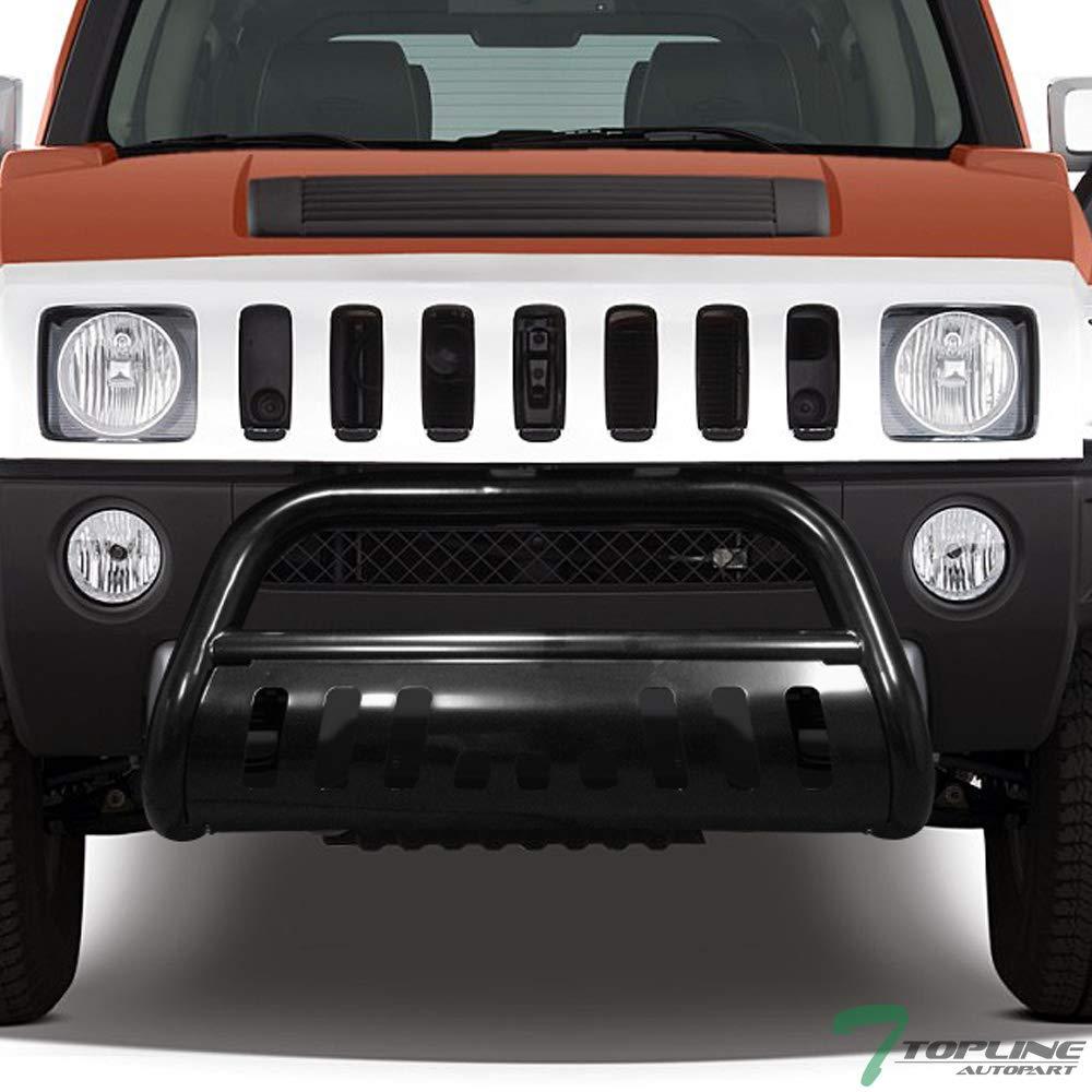 Amazon.com: Topline Autopart Black HD Heavyduty Bull Bar ... | hummer h3 grill guard