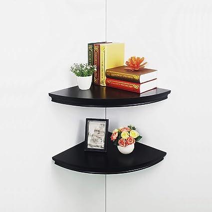 Sensational Hao Set Of 2 Modern Radial Corner Wall Shelf Approx 12 Interior Design Ideas Jittwwsoteloinfo