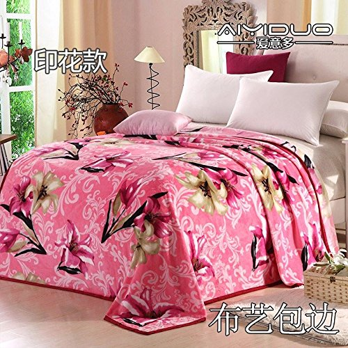 Znzbzt small blanket afternoon nap office single cute mini cover and small blankets winter student adult thick warm ,200x230cm [thick package of health, perfume lily