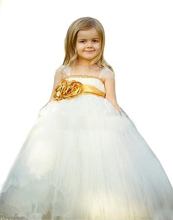 Amazon efavormart empyrean tulle floor length flower girl dress efavormart empyrean tulle floor length flower girl dress white child6 7yrs mightylinksfo
