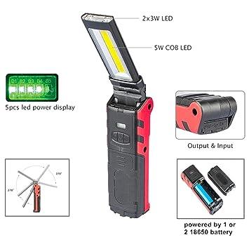 Cob Inspection TravailUsb De Torche Lampe Rechargeable 6I7ybfmYvg