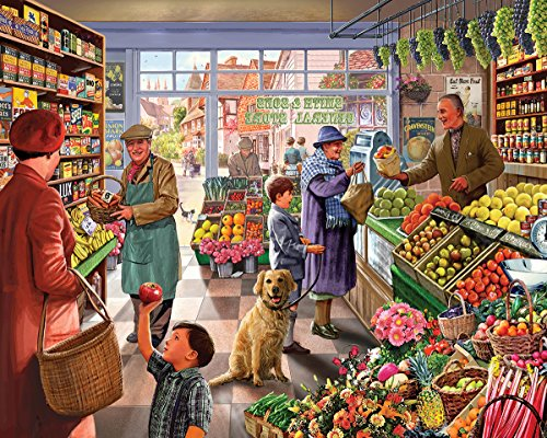 White Mountain Puzzles Market Day - 1000 Piece Jigsaw Puzzle