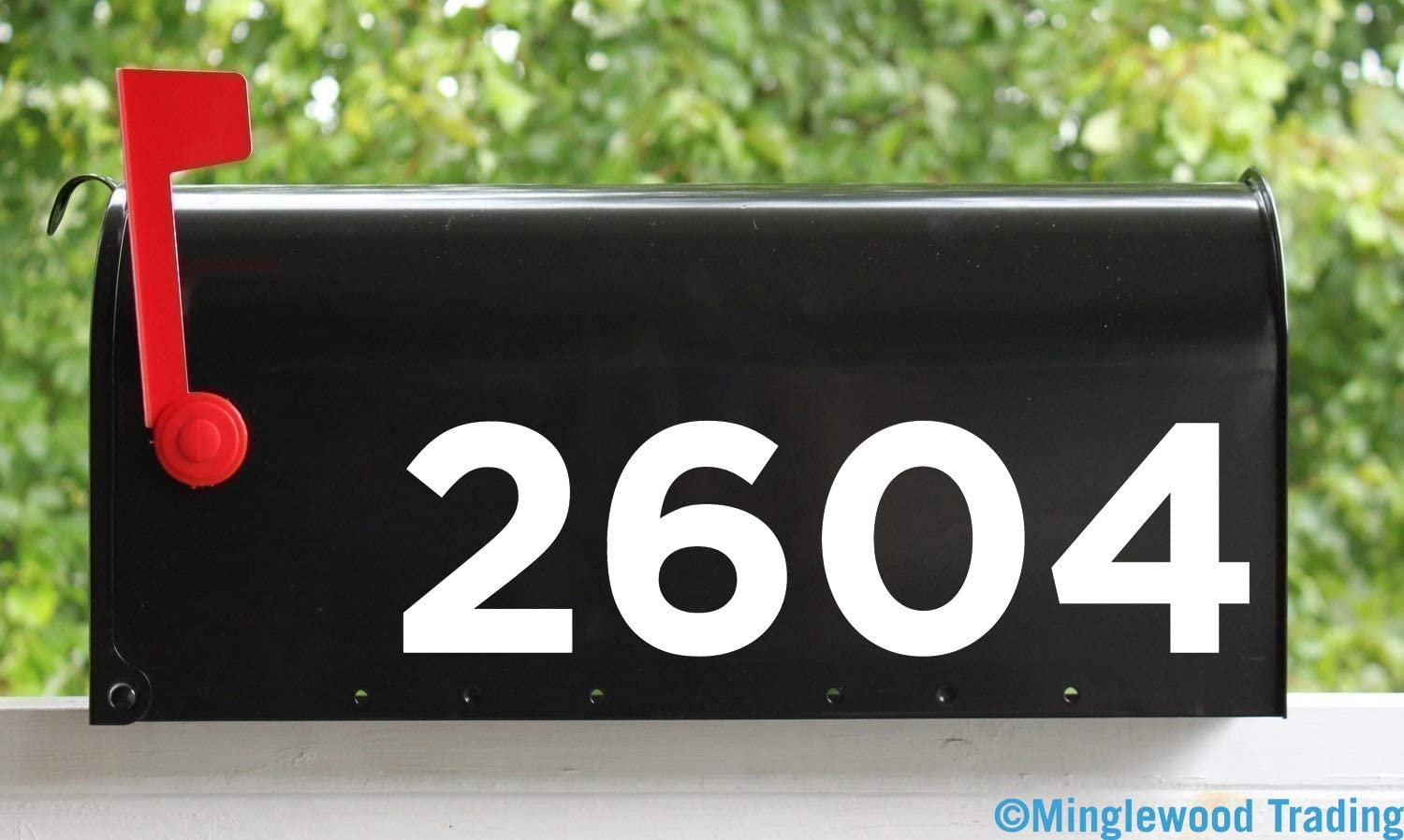 "- White - Custom House or Mailbox Numbers 2.5"" h x 10""w max Vinyl Sticker - Lettering Name Home Office Address - Goth - 20 Color Options"
