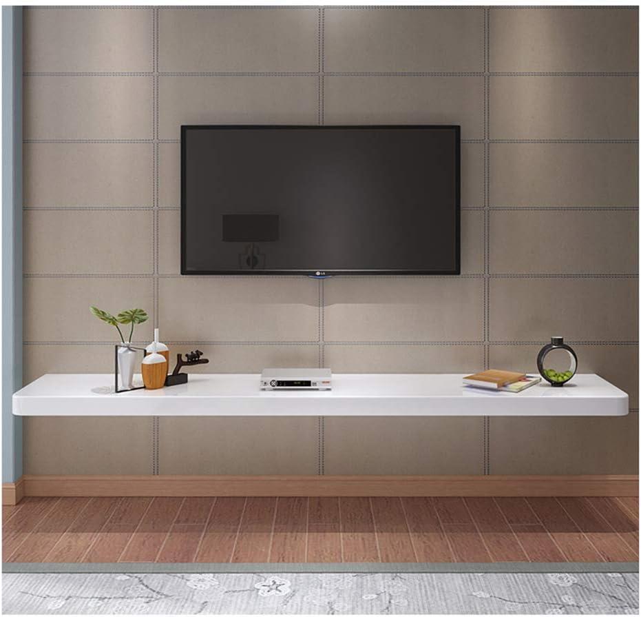 Estante de pared de madera de tamaño pequeño Estante flotante Mueble de TV de pared Fondo de decoración de pared Consola de TV Estante Estante de proyector de DVD Punzón # Múltiples
