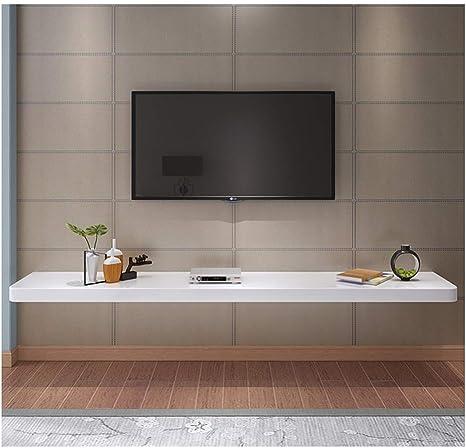 Estante de pared de madera de tamaño pequeño Estante flotante Mueble de TV de pared Fondo