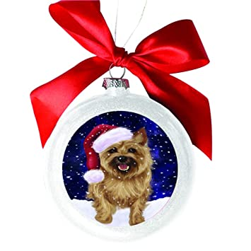 Let it Snow Christmas Holiday Cairn Terrier Dog White Round Ball Christmas  Ornament WBSOR48517 - Amazon.com: Let It Snow Christmas Holiday Cairn Terrier Dog White