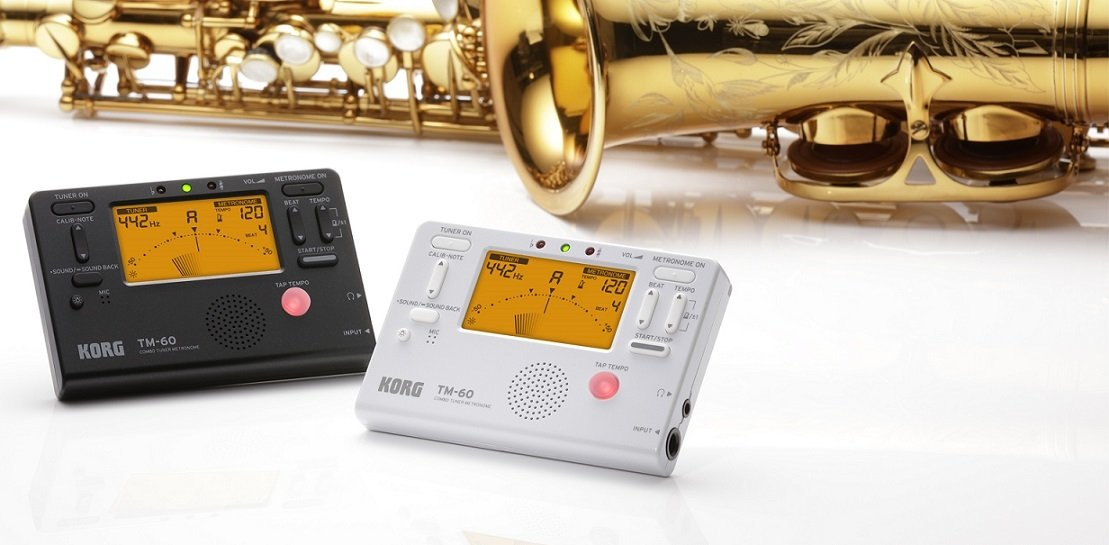 Korg TM60BK Tuner and Metronome Combo with Clip on Microphone (Black)