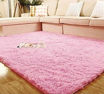 80120cm Living Room Floor Mat Cover Carpets Rug Area Pink