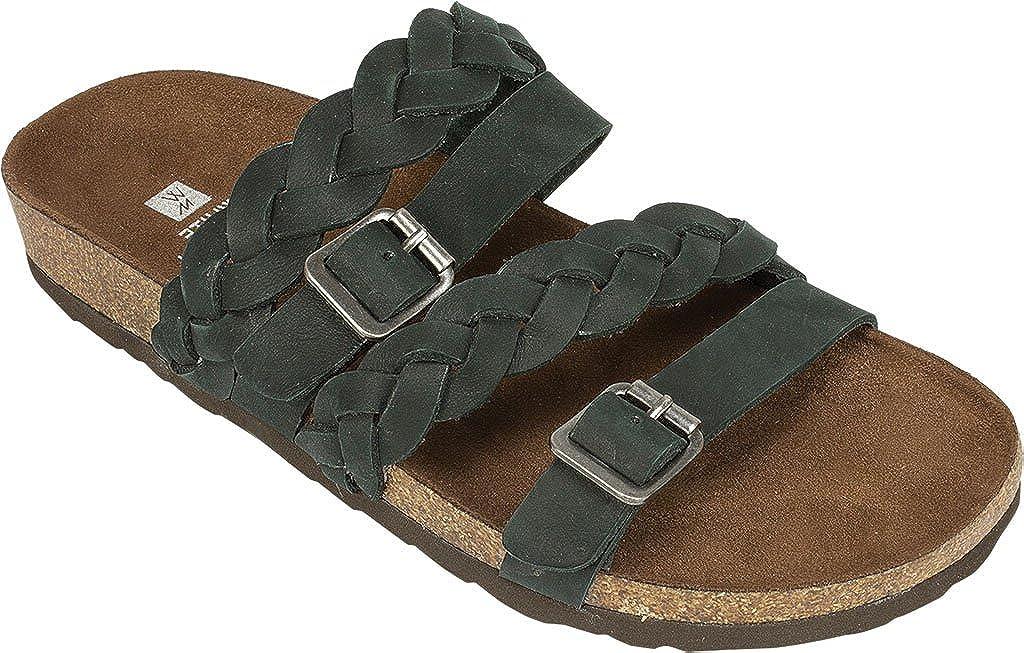 Black Nubuck Women's White Mountain, Holland Sandals