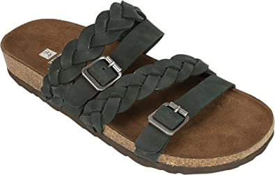 White Mountain Leather Slide Sandals - Holland cheap sale big discount gi3Ze