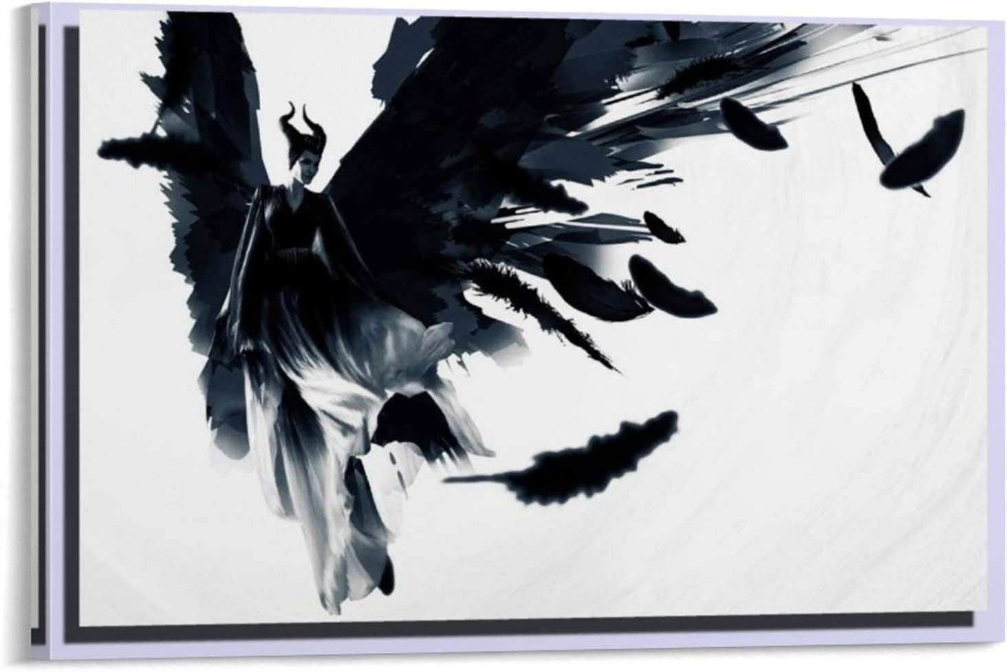 ZX198 Home Decor Art Painting HD Print Oil Painting on Canvas,Maleficent Mistress of Evil Poster Wall Art for living room Print Artwork Wall Art Decor Poster painting bedroom bathroom Decorations Canv