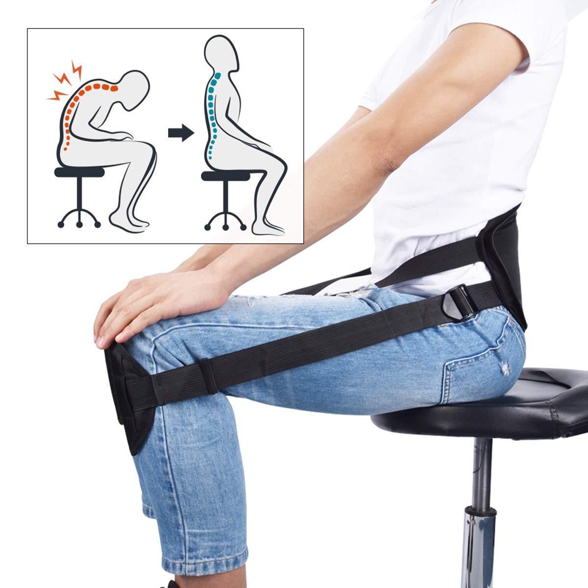Ceinture de correction Adulte Assis Posture Ceinture de correction de la clavicule Ceinture est mieux assise pour la colonne vertébrale