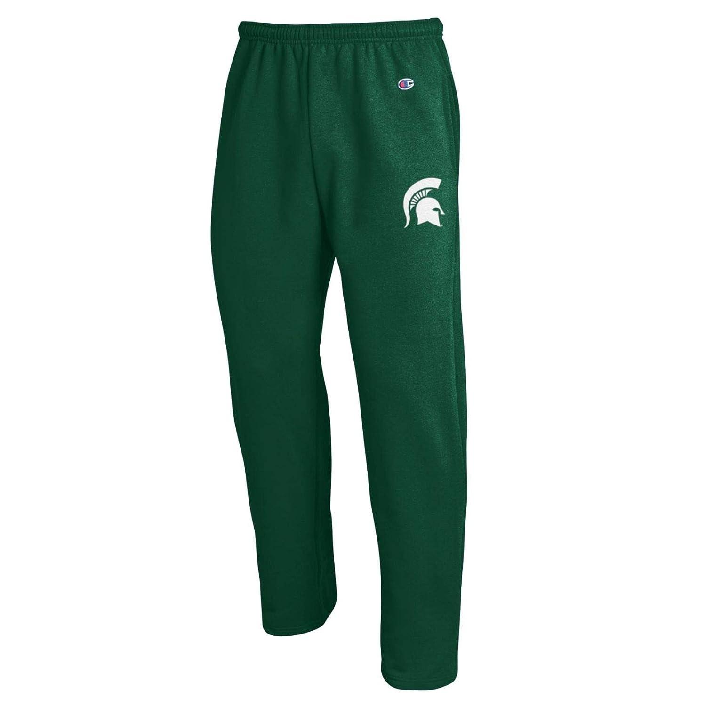 Champion NCAA Michigan State Spartans Eco Powerblend Open Bottom Pant Medium Dark Green