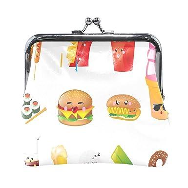 Amazon.com: Monedero de comida con dibujos animados para ...