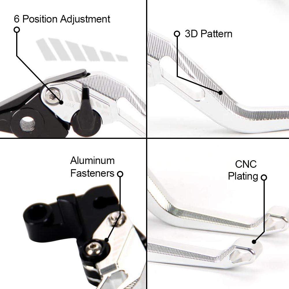 MT-125 2014-2020 2014-2020 argento Auzkong Leve freno frizione Set corto regolabile per Yamaha YZF-R125//125R