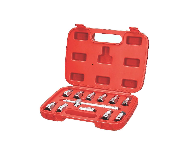 8-17 mm /Öldienst Schl/üssel /Öldienstschl/üssel /Ölwannen Vierkant Sechskant 12 tlg