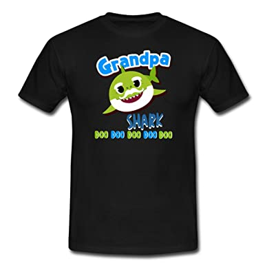 97cb8c901 Spreadshirt Grandpa Shark - Daddy Shark Doo Doo Doo Men s T-Shirt ...