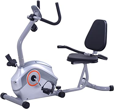 Goplus Bicicleta estática magnética reclinada, bicicleta ...