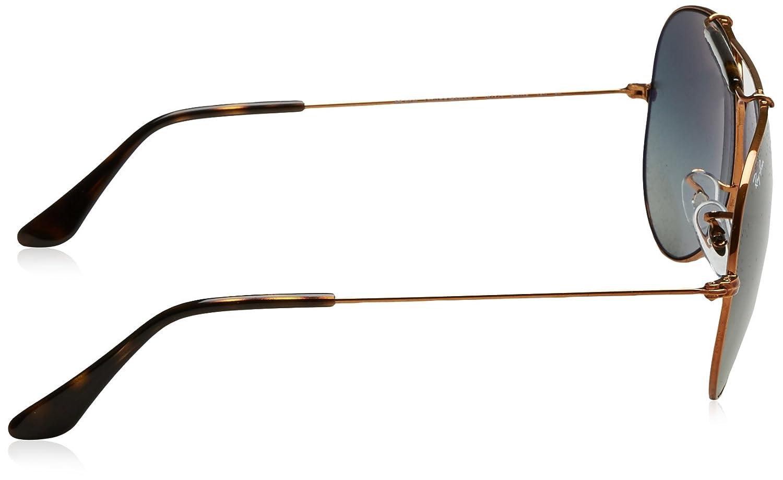 RAY-BAN Outdoorsman II Gafas de sol, Shiny Bronze, 62 para ...