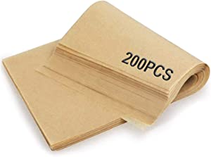 200 Pcs Parchment Paper Baking Sheets, Precut Non-Stick Parchment Paper, Unbleached 9x13 Inch Parchment Paper Sheets for Baking, Cooking, Grilling, Air Fryer, Steaming, Grilling Rack and Oven
