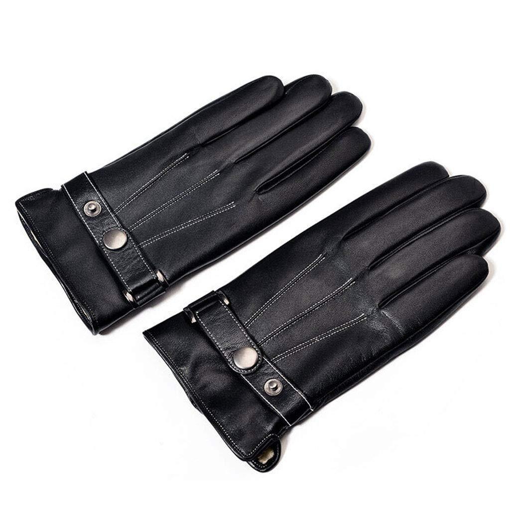 DSADDSD Lederhandschuhe für Männer, Winterwarme Outdoor-Sport-Reithandschuh-Handschuhe