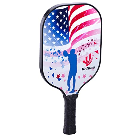 Urtboo Pickleball Paddle, Graphite Face Honeycomb Composite Core Low Edge Guard Premium Grip Light Weight 7oz-8 OZ Pickleball Racket Good Choice for ...