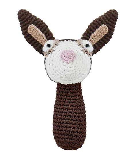 Sebra Peluches au crochet en forme danimaux lapin hochet