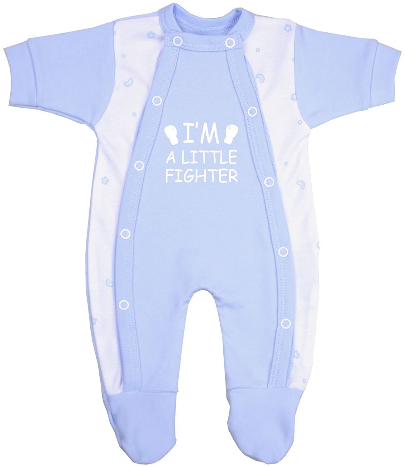 BabyPrem Preemie Baby Footie Sleeper Little Fighter Clothes 1.5-7.5lb