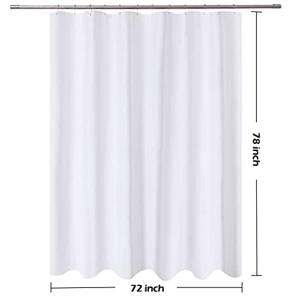 Nu0026Y HOME Long Shower Curtain Liner Fabric   72 X 78 Inch Longer Length,  Hotel
