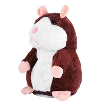 Light Brown Plush Doll Stuffed Animal Talking Toy Sound Recorder Kids Gift