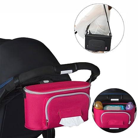 Bolso Carro Bebe, Yuccer Universal Organizador Carrito para Bebé Gran Capacidad Accesorios de Cochecito (