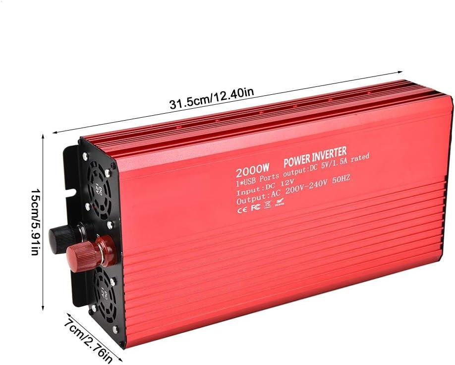 Jadpes Convertisseur 12 V Onduleur 220V 2000W avec onduleur /à Onde sinuso/ïdale Pure pour Panneau Solaire UE