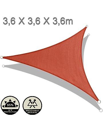37bbcf6a AXT SHADE Toldo Vela de Sombra Triangular, protección Rayos UV y HDPE  Transpirable para Patio