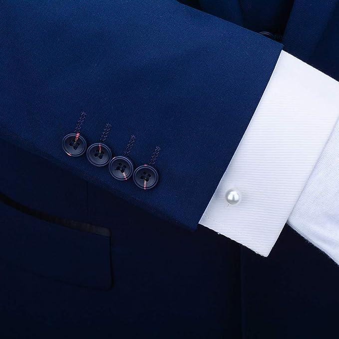 WoLoYo Oro Doble Cabeza Perla Gemelos para los Hombres, Boda Formal de Negocios Gemelos para Camisa francés Brazalete uñas, joyería Caja de Regalo, Desmontable: Amazon.es: Hogar