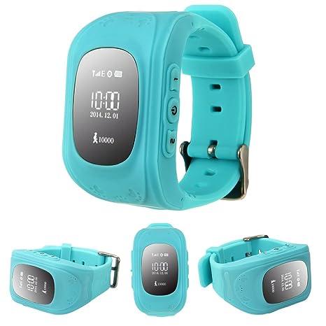 iPro GPS Tracker reloj inteligente para Kid Safe, Q50 Smartwatch SOS Llamada ubicación reloj de